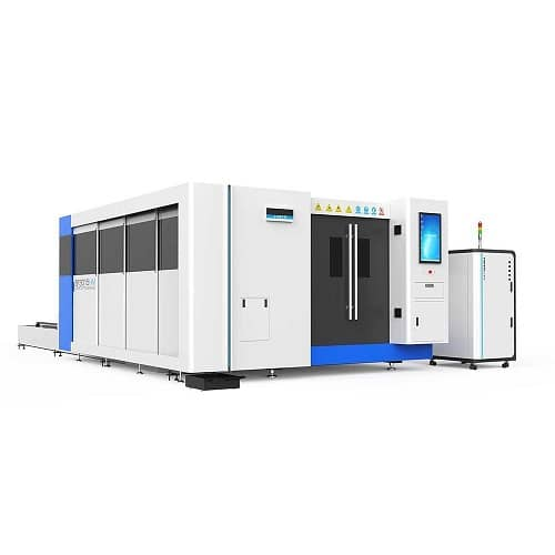 Fully Enclosed Metal Tube And Plate Fiber Laser Cutting Machine 1.5KW to 36KW SF3015HM